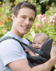 Babywearing dad - baby feeling secure and loved