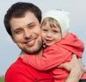 Secure baby becomes confident and caring father